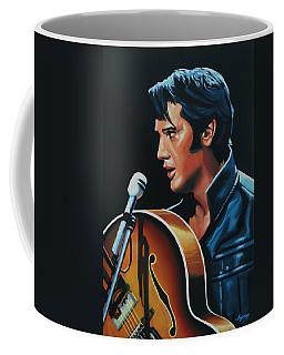 Elvis Presley 3 Painting Coffee Mug