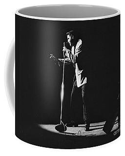 Elvis Presley On Stage In Detroit 1956 Coffee Mug
