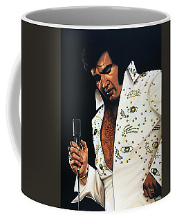 Elvis Presley Painting Coffee Mug by Paul Meijering