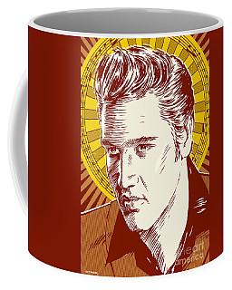 Elvis Presley Pop Art Coffee Mug by Jim Zahniser