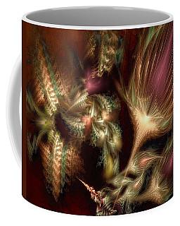 Coffee Mug featuring the digital art Elysian by Casey Kotas