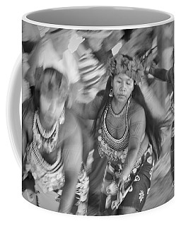 Embera Villagers In Panama As Black And White Coffee Mug