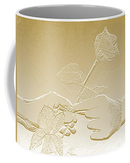 Embossed Gold Rose By Jan Marvin Studios Coffee Mug