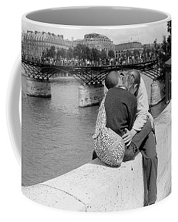 Coffee Mug featuring the photograph Embrace-paris by Dave Beckerman