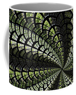 Coffee Mug featuring the photograph Emerald Whirl. by Clare Bambers