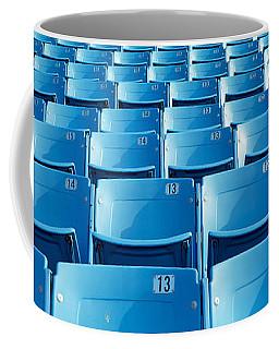 Empty Blue Seats In A Stadium, Soldier Coffee Mug