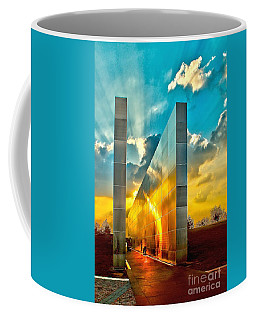 Empty Skies Sunset Coffee Mug by Nick Zelinsky
