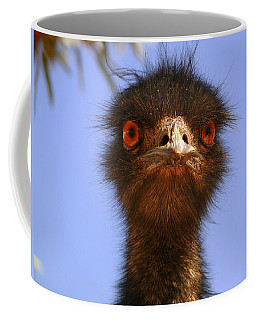 Emu Upfront Coffee Mug by Evelyn Tambour