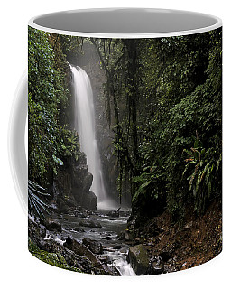 Encantada Waterfall Costa Rica Coffee Mug by Teresa Zieba