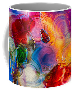 Coffee Mug featuring the painting Enchanting Flames by Omaste Witkowski