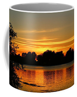 Coffee Mug featuring the photograph End Of Summer Sunset by Lynn Hopwood