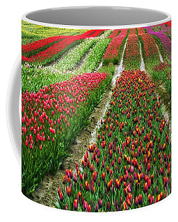 Endless Waves Of Tulips Coffee Mug by Eti Reid