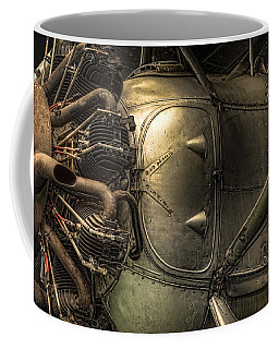 Radial Engine And Fuselage Detail - Radial Engine Aluminum Fuselage Vintage Aircraft Coffee Mug