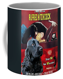 English Cocker Spaniel Art - Dial M For Murder Coffee Mug