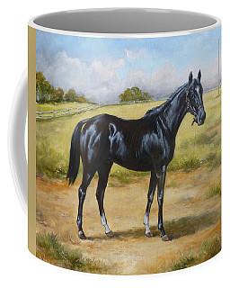 English Horse - Black Huzar Coffee Mug