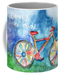 Enjoy The Ride- Colorful Bike Painting Coffee Mug