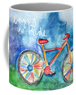 Enjoy The Ride- Colorful Bike Painting Coffee Mug