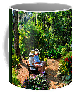 Loving Couple Enjoying Their Prayer Garden Coffee Mug