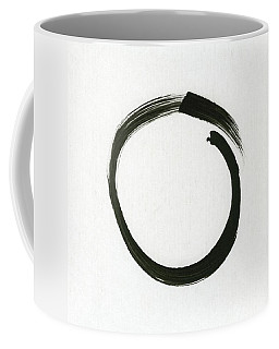 Enso #1 - Zen Circle Minimalistic Black And White Coffee Mug