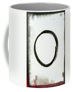 Enso #2 - Zen Circle Abstract Black And Red Coffee Mug