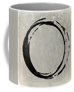 Enso No. 107 Black On Taupe Coffee Mug