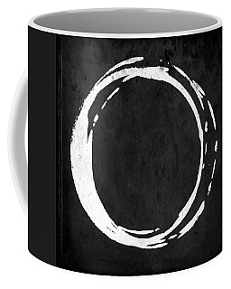 Enso No. 107 White On Black Coffee Mug