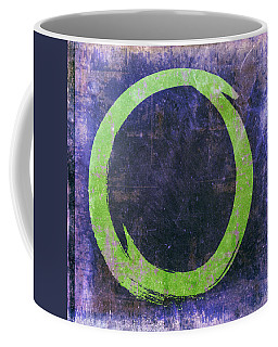Enso No. 108 Green On Purple Coffee Mug