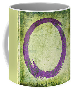 Enso No. 108 Purple On Green Coffee Mug