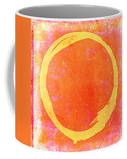 Enso No. 109 Yellow On Pink And Orange Coffee Mug