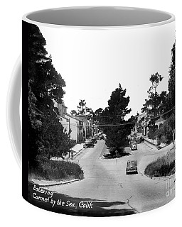 Entering Carmel By The Sea Calif. Circa 1945 Coffee Mug