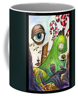 Coffee Mug featuring the painting Entering The Lucid Dream by John Ashton Golden
