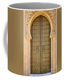 Entrance Door To The Mausoleum Mohammed V Rabat Morocco Coffee Mug by Ralph A  Ledergerber-Photography