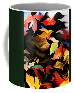 Coffee Mug featuring the digital art Entropic Dance Of The Salamander First Snow.  by David Lane