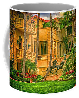 Coffee Mug featuring the photograph Equine Villa  by Dennis Baswell