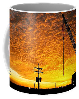 Erecting A Sunset In Beaumont Texas Coffee Mug