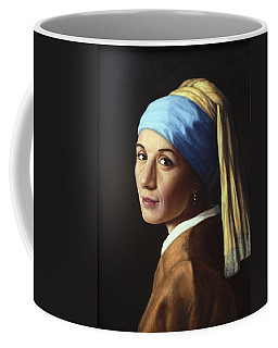 Erika With A Pearl Earring Coffee Mug