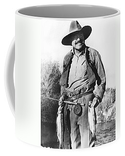 Ernest Hemingway Fishing Coffee Mug