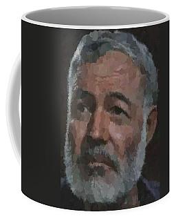 Ernest Hemingway Portrait Coffee Mug