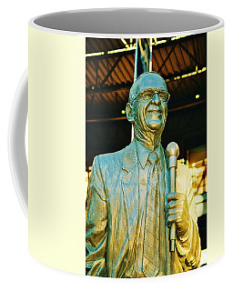 Ernie Harwell Statue At The Copa Coffee Mug