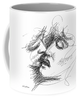 Coffee Mug featuring the drawing Erotic Art Drawings 15f by Gordon Punt