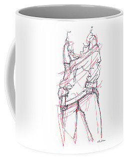 Coffee Mug featuring the drawing Erotic Art Drawings 6 by Gordon Punt