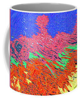 Erupting Lava Meets The Sea Coffee Mug