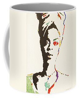 Coffee Mug featuring the painting Erykah Badu by Stormm Bradshaw