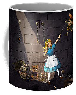 Coffee Mug featuring the painting Escape by Reynold Jay