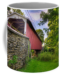 Coffee Mug featuring the photograph Eshelman's Mill Covered Bridge by Jim Thompson