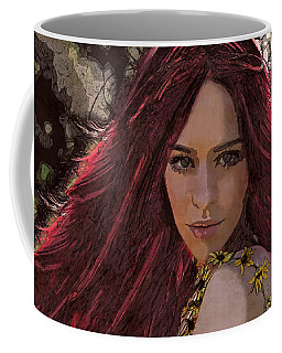 Coffee Mug featuring the digital art Ethere by Galen Valle