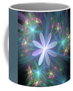 Coffee Mug featuring the digital art Ethereal Flower In Blossom by Svetlana Nikolova