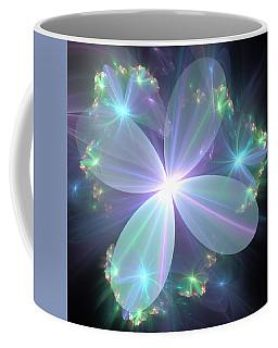 Coffee Mug featuring the digital art Ethereal Flower In Blue by Svetlana Nikolova