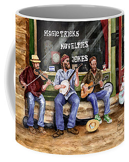 Eureka Springs Novelty Shop String Quartet Coffee Mug