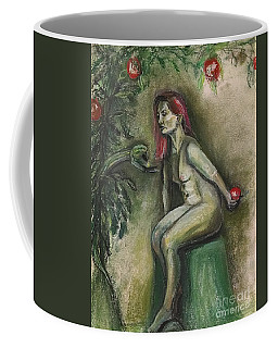 Coffee Mug featuring the drawing Eve In The Garden  by Gabrielle Wilson-Sealy